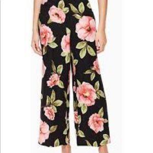 Kate Spade Madison floral silk linen pant